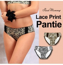 Maternity seamless lace printed panties