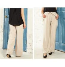 Pantaloni premaman con elastico e cintura in vita