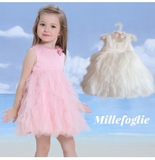Flower Girl Formal Dress 9M - 6 years White Pink