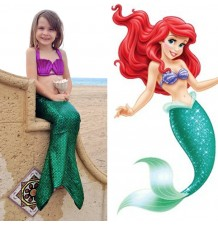 Little girl swimsuit, mermaid model, 3 pieces 100-130 cm