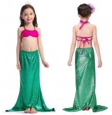 Maillot de bain petite fille, modèle sirène, 3 pièces 100-130 cm