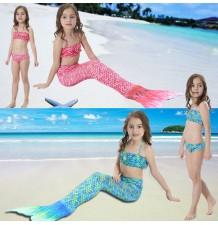 Maillot de bain petite fille, modèle sirène, 3 pièces 110-140 cm