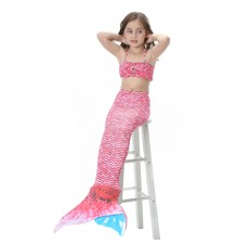 Little girl swimsuit, mermaid model, 3 pieces 110-140 cm