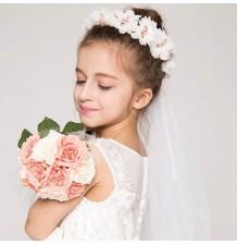 Couronne de fleurs de cérémonie pour petite fille