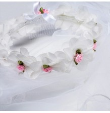 Coroncina fiori bimba per cerimonia