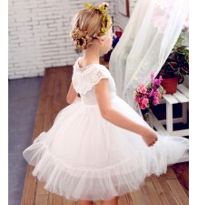 Flower girl dress white colour with butterflies 90-150cm