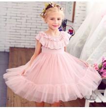 Flower girl dress pink colour 100-150cm
