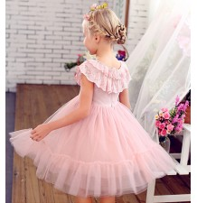 Flower girl dress pink colour 100-150cm
