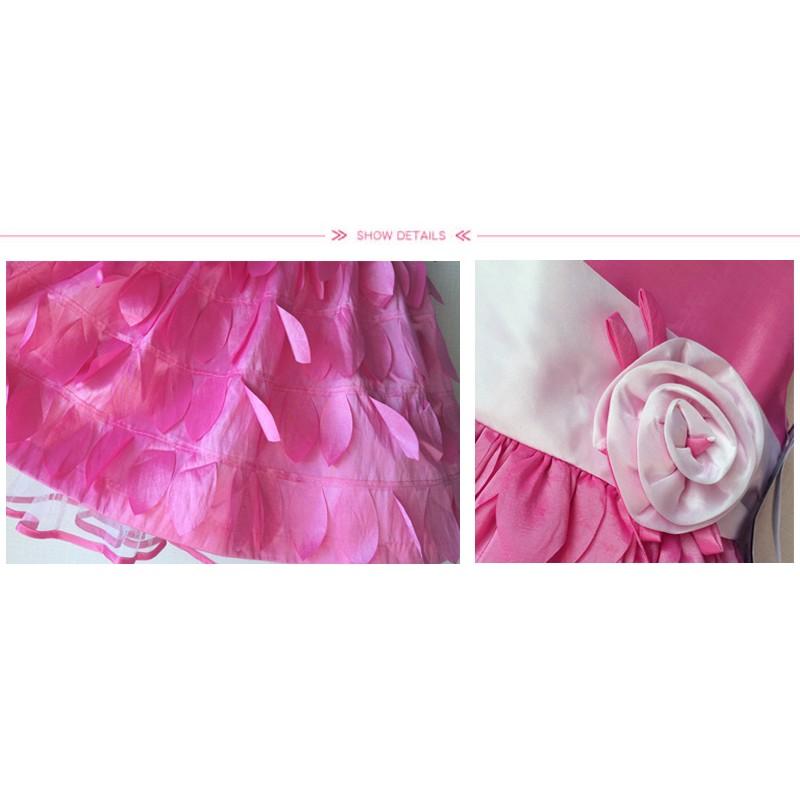 Royaume-Uni disponibilité 8d522 126b3 Robe de Cérémonie Demoiselle d'honneur fuchsia en shantung ...