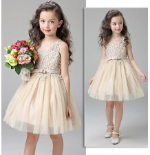 Flower girl formal dress gold colour 110-150cm