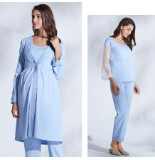 Maternity Nursing Pajamas 3 pieces Set