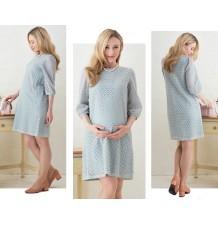 Robe de grossesse et d'allaitement avec couche en dentelle