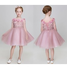Flower girl formal dress pink colour 90-150cm