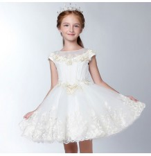 Flower girl ceremony formal dress ivory 100-150cm