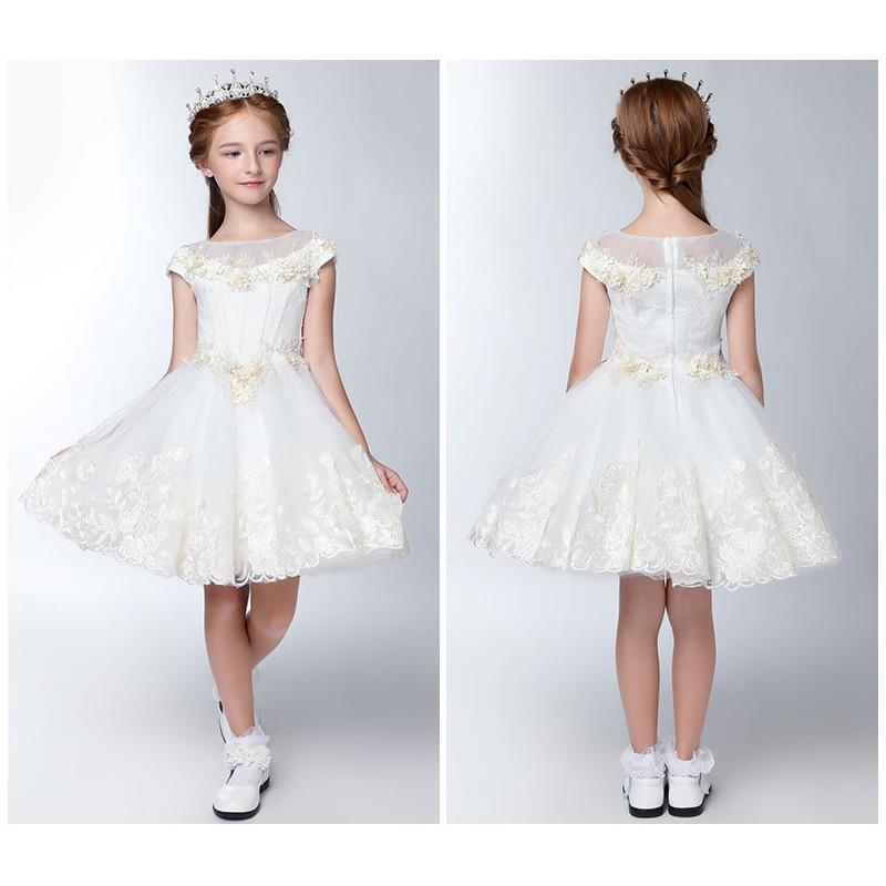 flower girl formal dress white colour 80 140cm sweet mommy. Black Bedroom Furniture Sets. Home Design Ideas
