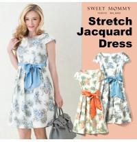 Vestito premaman e allattamento in tessuto Jacquard