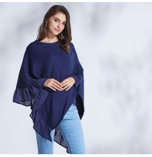 Maternity and nursing cape in organic cotton
