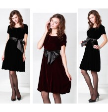 Silk Velvet Maternity Nursing Ceremony Dress