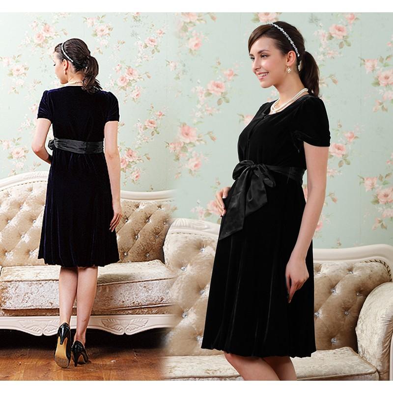 d4f64c0065b04 Silk Velvet Maternity Nursing Ceremony Dress | SWEET MOMMY