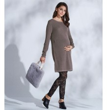 Organic cotton maternity and nursing knit tunic
