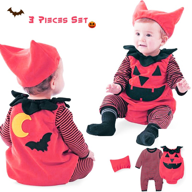 Halloween baby costume 3 pcs 0-24 months