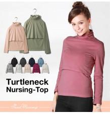 Turtleneck Nursing TOP Milk Shirt