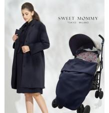 Cappotto mamma-bambino in cashmere con marsupio regolabile