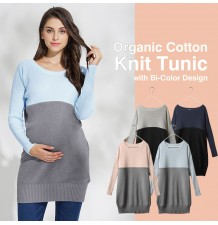 Organic Cotton Maternity Nursing Tunic Sweater