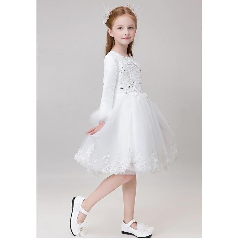 robe blanche de c r monie fille demoiselle d 39 honneur. Black Bedroom Furniture Sets. Home Design Ideas
