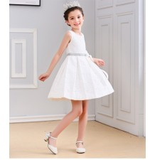 Flower girl white/pink formal dress 100-160 cm