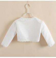 Bolerino Cerimonia Bambina Bianco 100 - 150cm