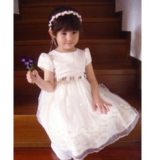 Baby Flower Girl Formal Dress White 2-5 years