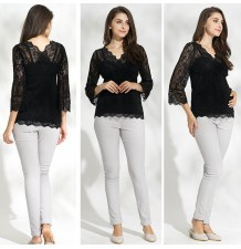 Maternity and nursing lace top