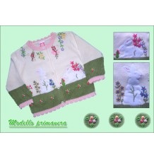 "Baby Girl Cotton Sweater Cardigan Model ""Spring"""
