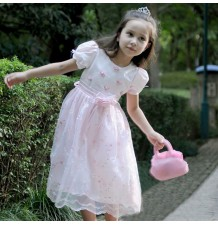 Flower Girl Dress 90-100cm White Pink