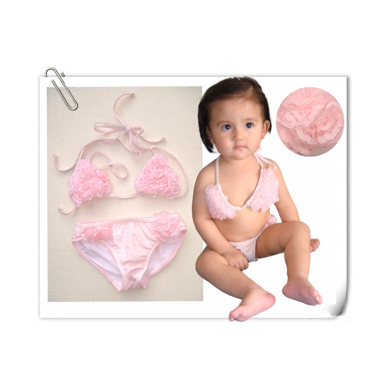 COSTUME MARE BAMBINA 2 PZ Modello Angel's Rose