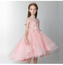Flower girl formal dress pink colour 100-160cm