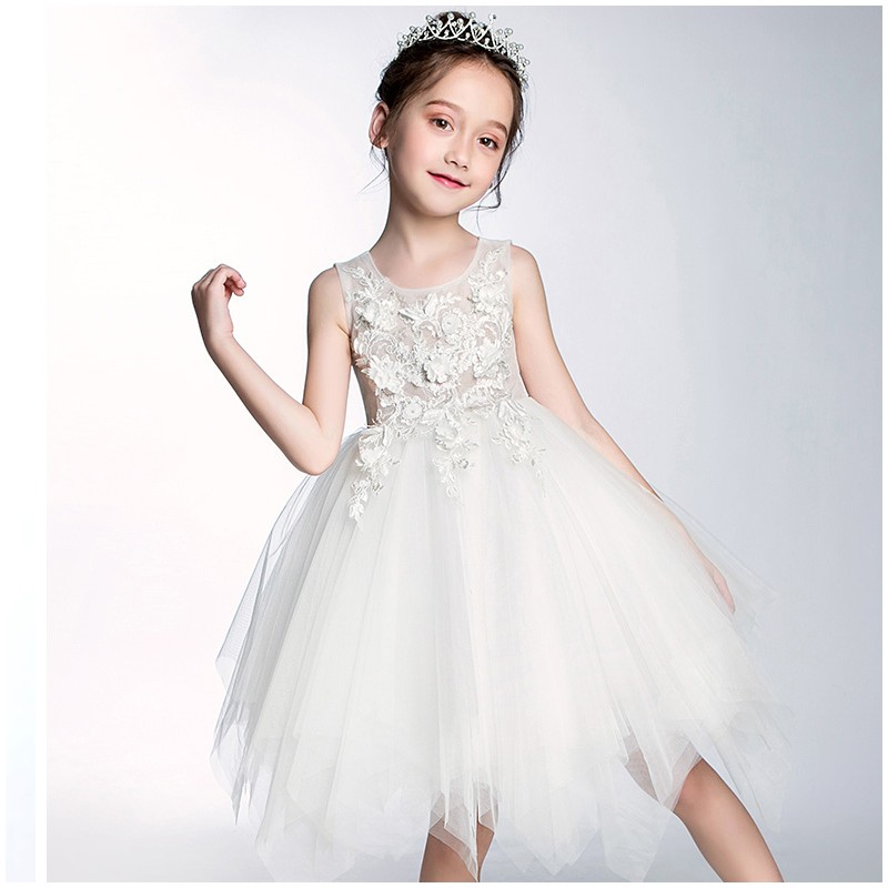 ae00a2afe Flower girl peach-coloured formal dress 100-150 cm