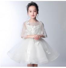 Robe de cérémonie fille-demoiselle d'honneur 3/4 manches 100-150cm