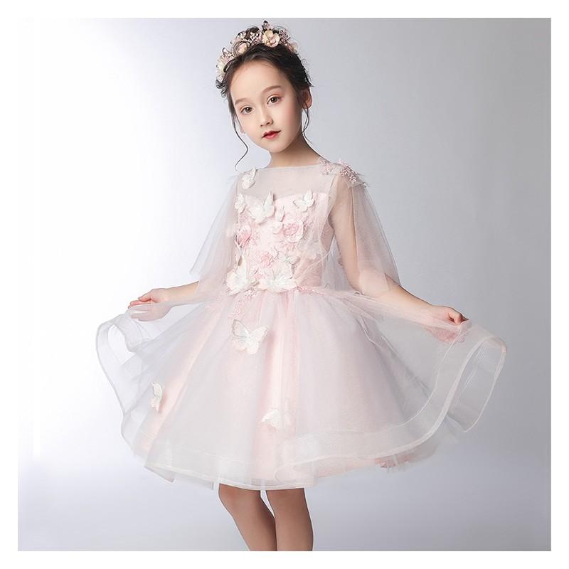 flower girl white pink formal dress 100 160 cm sweet mommy. Black Bedroom Furniture Sets. Home Design Ideas