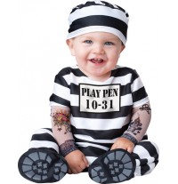 Costume Carnevale Carcerato per Bambino Incharacter 0-24 mesi