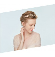 Decorated champagne little girl headband  for ceremonies