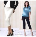 Jeans denim pinocchietto Premaman a vita bassa