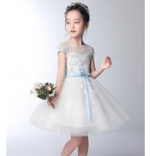 Robe de cérémonie fille-demoiselle d'honneur 100-160cm
