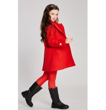 Girl christmas red coat with removable padded gilet