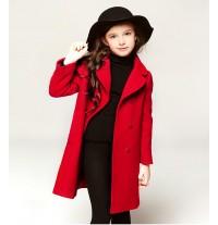 Manteau rouge fille cadeau de Noël 110 - 120cm