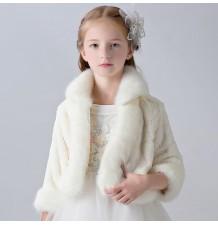 Boléro hivernal pour petites filles 3-10 ans