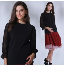 Maternity and nursing blouse