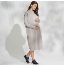 Vestito premaman e allattamento in cotone biologico