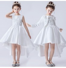 Flower girl ceremony white formal set 100-160cm